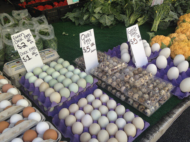 Eggs, Farmers Market, California, Healthy Eating