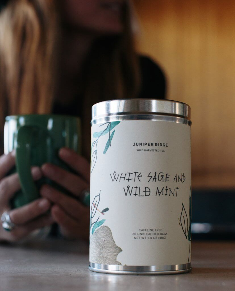 White Sage and Wild Mint Tea, Juniper Ridge | Zebra Organics